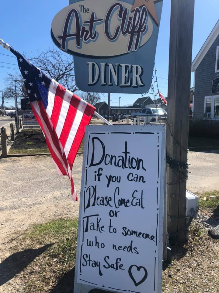 Takeout Options On Martha's Vineyard During The Pandemic: Art Cliff Diner Vineyard Haven Takeout Restaurant