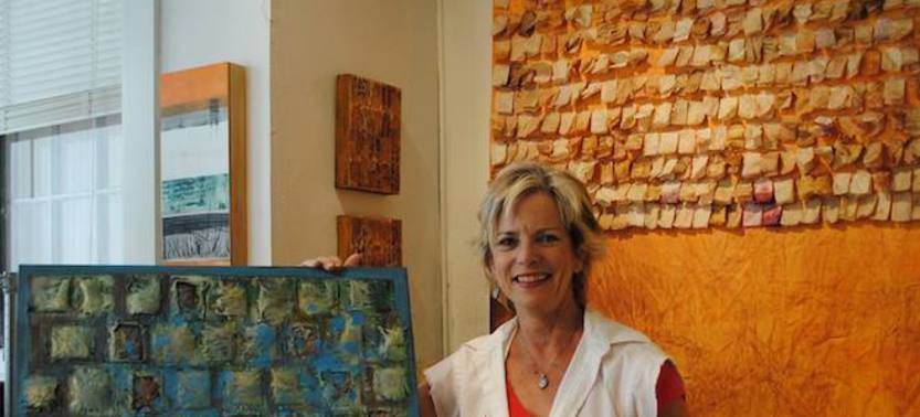 Santa Fe Artist Celebrates Aging by Making Art Out of Tea Bags