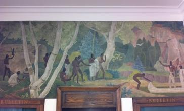 Gibson_City__IL_Post_Office_mural___Hiawatha_Returning_with_Minnehaha__by_Francis_Foy.JPG