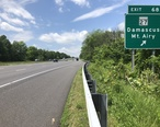 2019-05-20_12_17_52_View_west_along_Interstate_70_and_U.S._Route_40__Baltimore_National_Pike__at_Exit_68__Maryland_State_Route_27__Damascus__Mount_Airy__in_Mount_Airy__Carroll_County__Maryland.jpg
