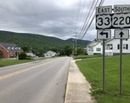 2019-05-14_10_48_23_View_east_along_U.S._Route_33_and_south_along_U.S._Route_220__Main_Street__at_Crigler_Lane_in_Franklin__Pendleton_County__West_Virginia.jpg