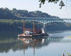 Towboat__Annette_G__Pushing_A_Dredger_Crane_Barge_Above_The_George_D._Stuart_Bridge__Tarentum__PA_.jpg