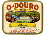 Wine_label_Gonsalves_Winery_O-Douro_California_Claret_Wine.jpg