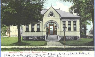 PostcardPublicLibraryWestbrookCT1906.jpg