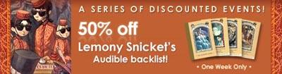 Audible.com Lemony Snicket Sale