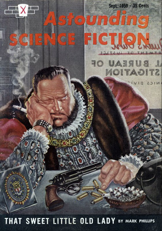 Astounding Science Fiction Magazine September 1959 That Sweet Little Old Lady by Mark Phillips