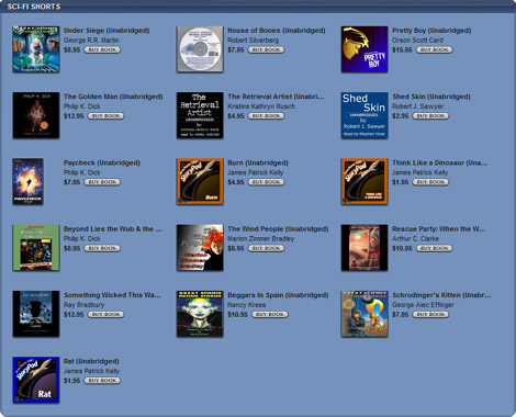 iTunes Features Sci-Fi Shorts in its Audiobook Store