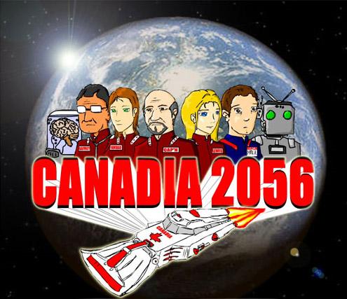 Ben Rai's winning entry in the CANADIA 2056 Future Graphic Contest