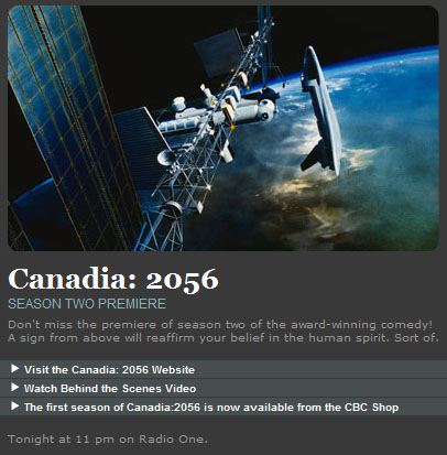 CBC Radio One - Canadia: 2056 Season 2 Premiere