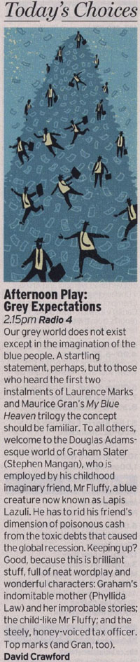 Radio Times: The Afternoon Play: Grey Expectations - review by David Crawford