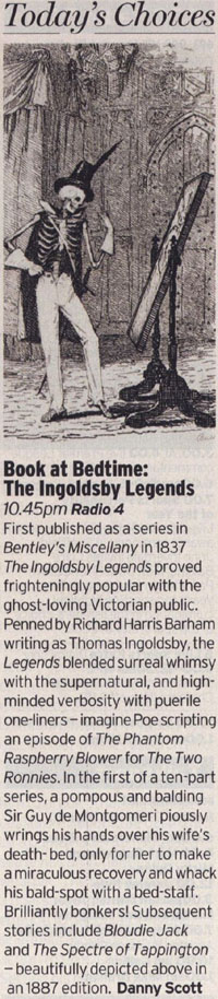 Radio Times - The Ingoldsby Legends - reviewed by Danny Scott
