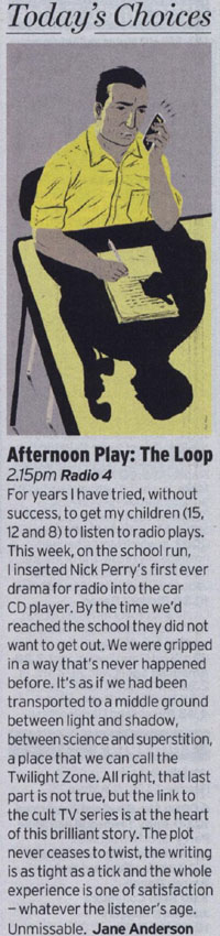 Radio Times - Today's Choices - Afternoon Play: The Loop by Jane Anderson