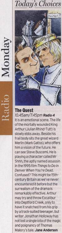 Radio Times - Today's Pick - The Quest (Jane Anderson)