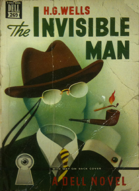 The Invisible Man by H.G. Wells - A Dell Book - FRONT COVER of the MAPBACK