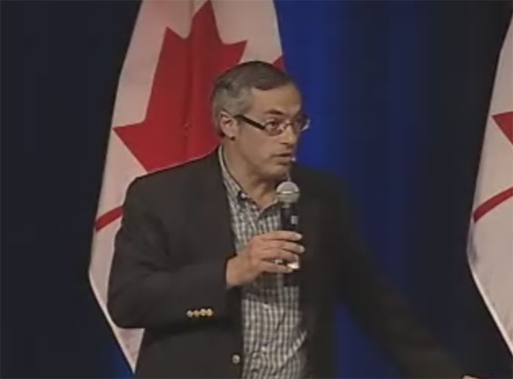 The honorable Minister of Indusrty Tony Clement @ approx. 7:18