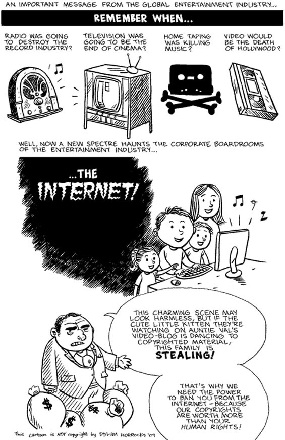"""…the internet"" by Dylan Horrocks"