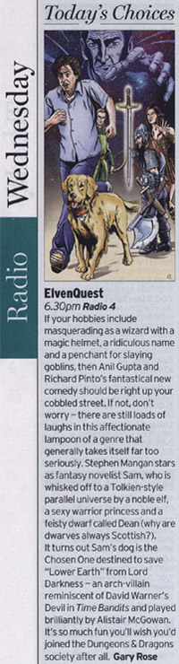 Radio Times - Today's Pick ElvenQuest (Gary Rose)