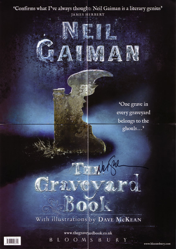 The Graveyard Book Signed Poster FRONT