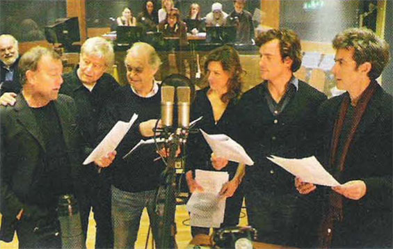 BBC Radio 4: Doctor No RADIO DRAMA - From left to right Nicky Henson, Martin Jarvis, John Standing, Janie Dee, Toby Stephens and Peter Capaldi