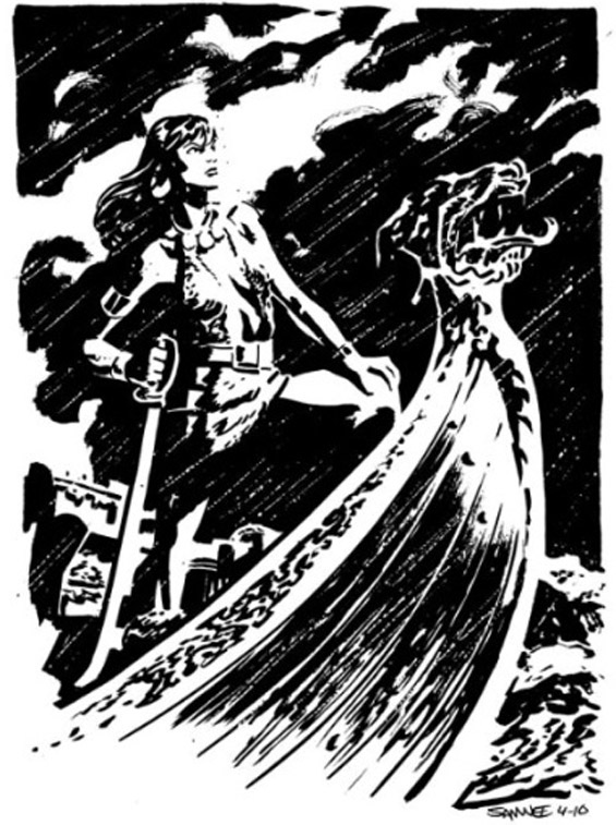 BELIT by Chris Samnee (from Robert E. Howard's QUEEN OF THE BLACK COAST)
