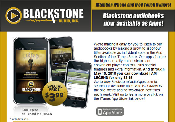 Blackstone Audio Apps: I Am Legend by Richard Matheson