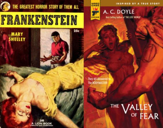 Frankenstein and The Valley Of Fear (a Sherlock Holmes novel)