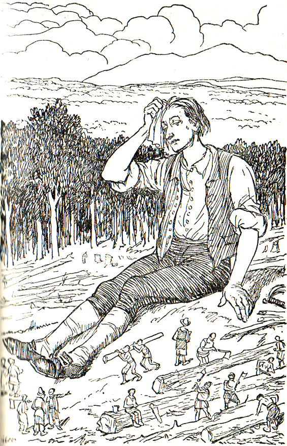 From Chapter 8 - A Voyage To Lilliput (Gulliver's Travels) illustrated by George Morrow