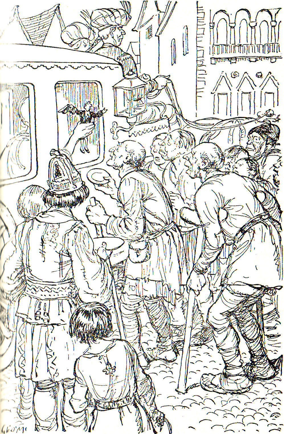 From Chapter 4 - A Voyage To Brobdingnag (Gulliver's Travels) illustrated by George Morrow