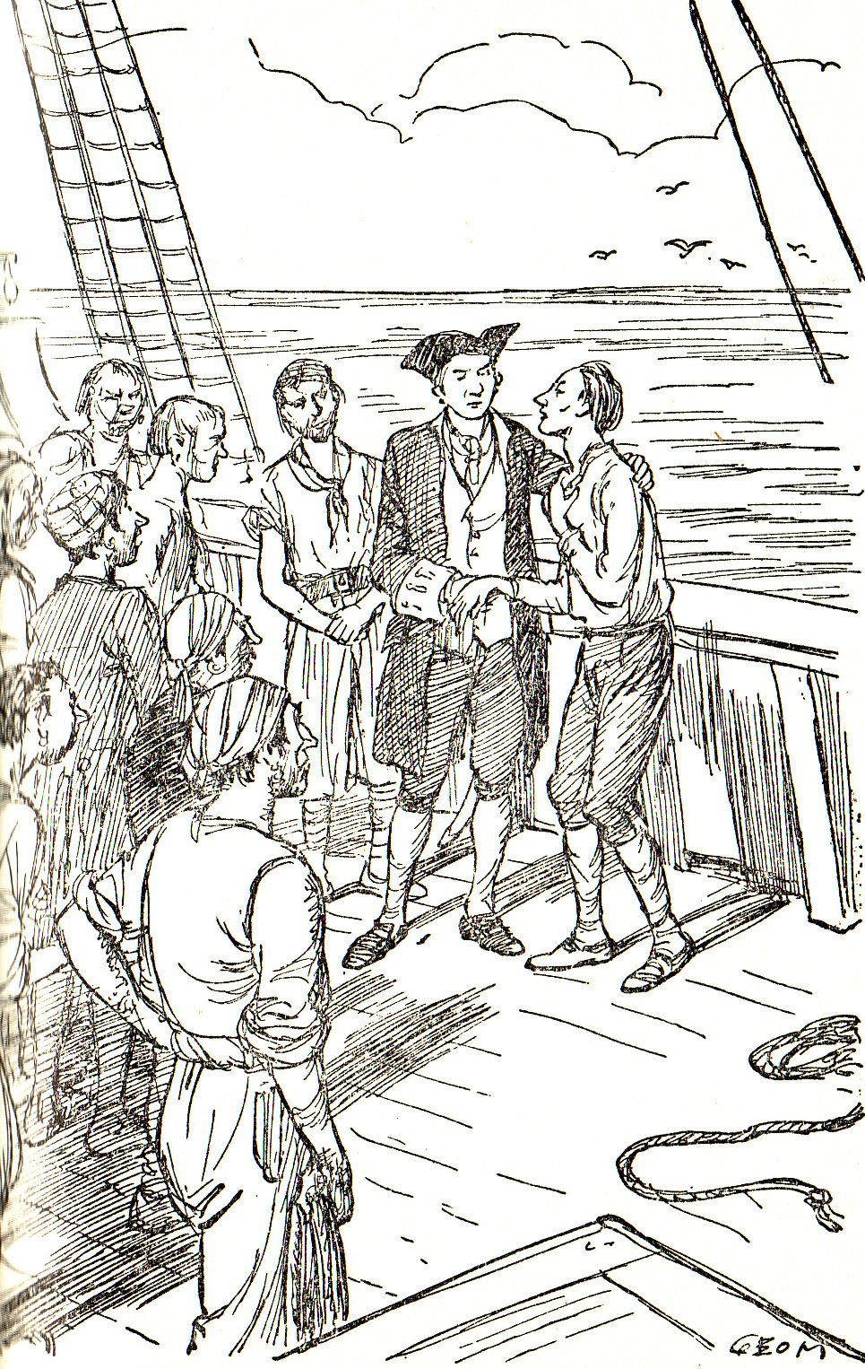 From Chapter 8 - A Voyage To Brobdingnag (Gulliver's Travels) illustrated by George Morrow