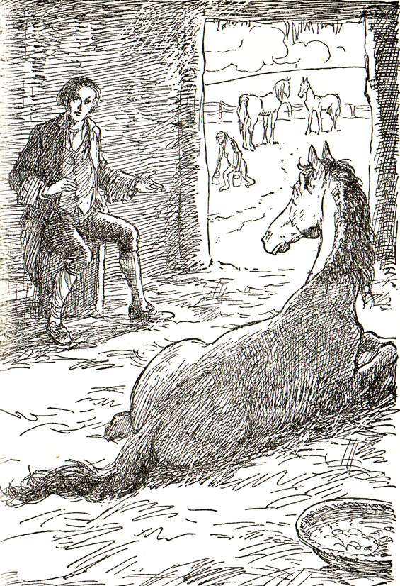 From Chapter 6 - A Voyage To The Country Of The Houyhnhnms (Gulliver's Travels) illustrated by George Morrow