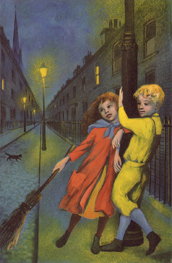 From the 1956 Junior Deluxe Editions - At The Back Of The North Wind by George MacDonald - Illustrated by Colleen Browning