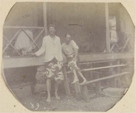 Lloyd Osbourne and Robert Louis Stevenson in Tahiti, 1888