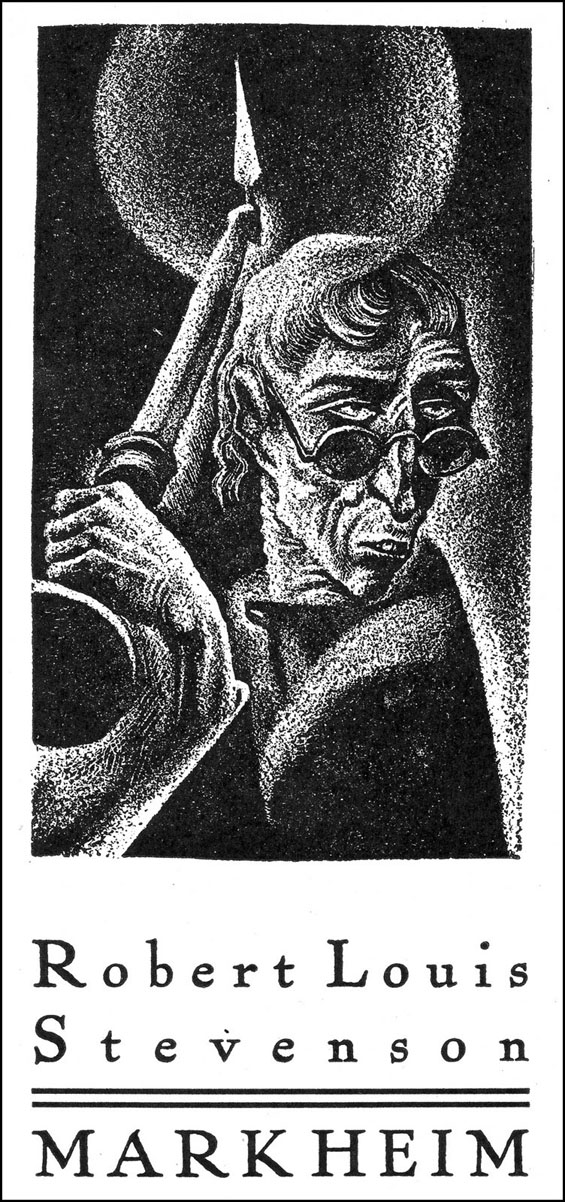 Robert Louis Stevenson's Markheim as illustrated by Lynd Ward - from The Haunted Omnibus (1937)