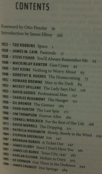 Best American Noir Of The Century Table Of Contents
