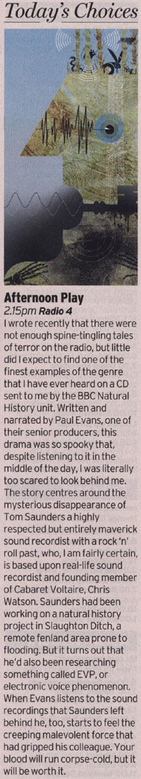 Radio Times - Afternoon Play: The Ditch