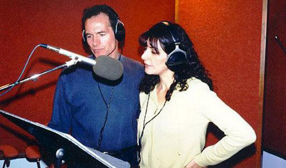 Seeing Ear Theatre - Neil Dickson And Marina Sirtis recording THE DEATH OF CAPTAIN FUTURE