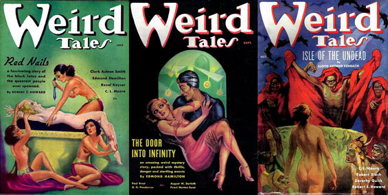 Weird Tales July, August-September and October 1936 issues