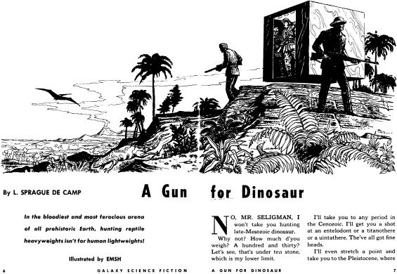A Gun For Dinosaur illustrated by EMSH