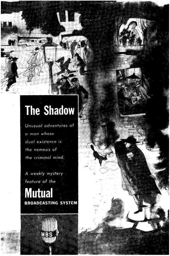 Ad for The Shadow radio show (on the Mutual Network) from the January 1954 issue of Astounding