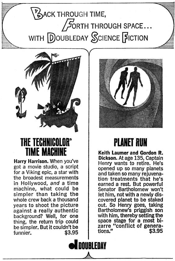 Advertizement for The Technicolor Time Machine from Galaxy Oct. 1967