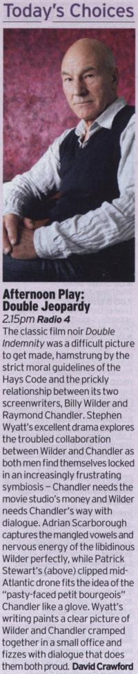 Radio Times - Afternoon Play - Double Jeopardy