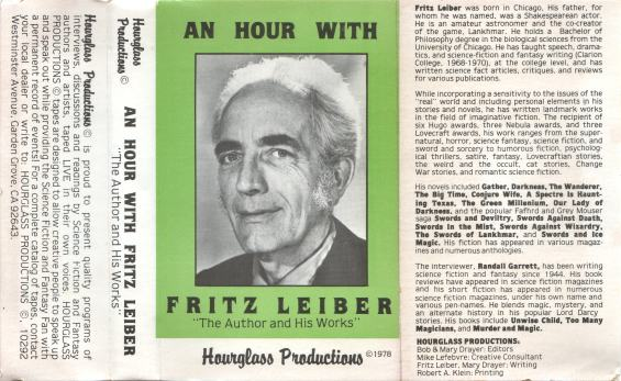 Hourglass Productions - An Hour With Fritz Leiber