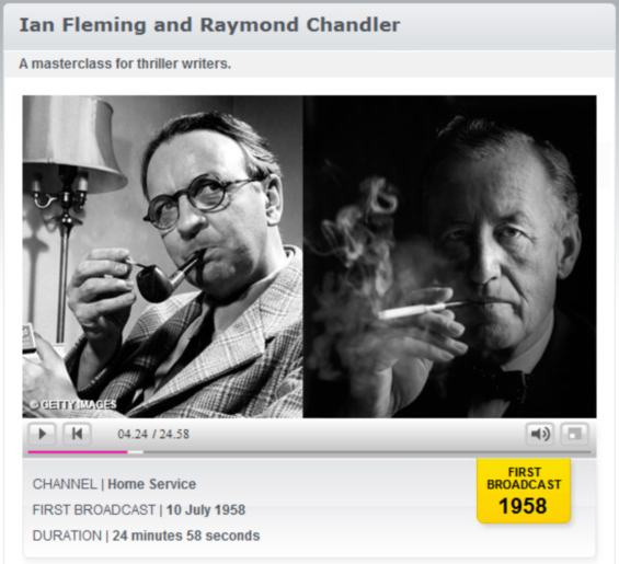 BBC Archives - Ian Fleming and Raymond Chandler