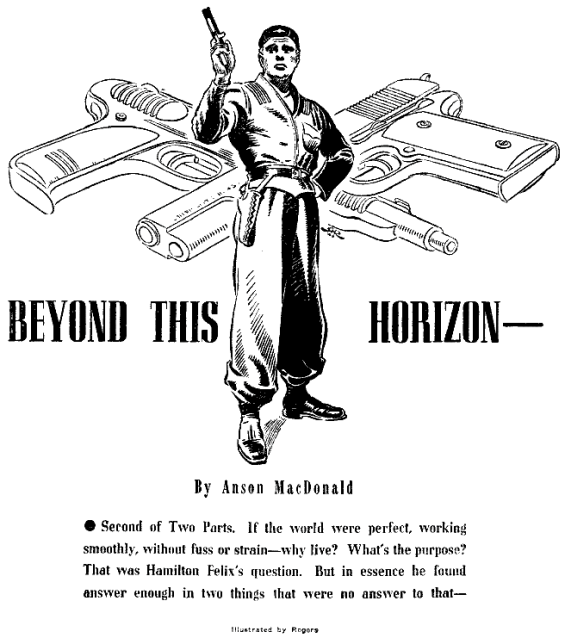 Beyond This Horizon - Astounding Science Fiction May 1942 - illustration by Hubert Rogers
