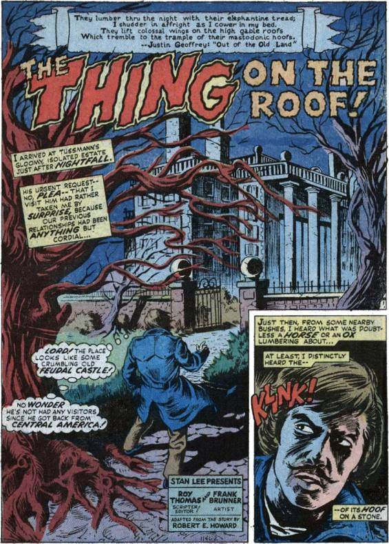 Chamber Of Chills #3 - The Thing On The Roof adapted by Roy Thomas and Frank Brunner