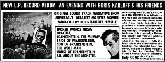 Eerie 1967 - An Evening With Boris Karloff And His Friends