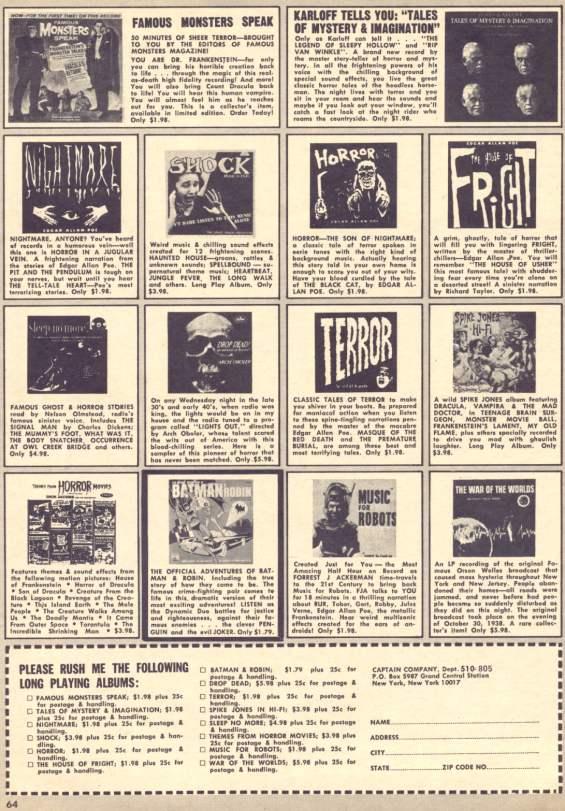Eerie Magazine 1966 - Famous Monsters Speak