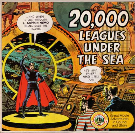 GOLDEN RECORDS 20,000 Leagues Under The Sea LP