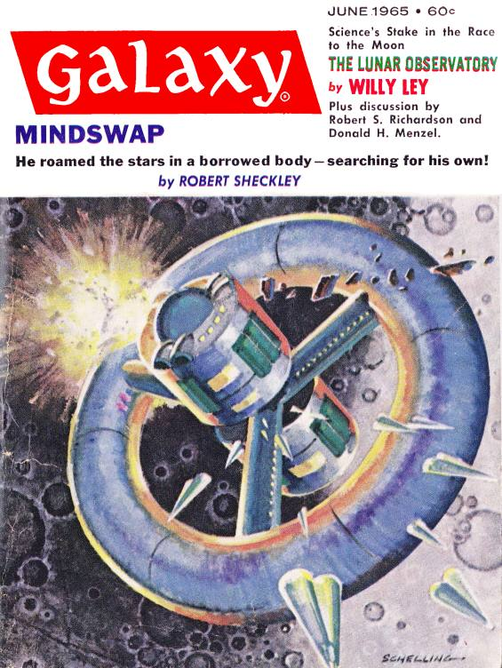 Galaxy June 1965 - MINDSWAP by Robert Sheckley - Cover
