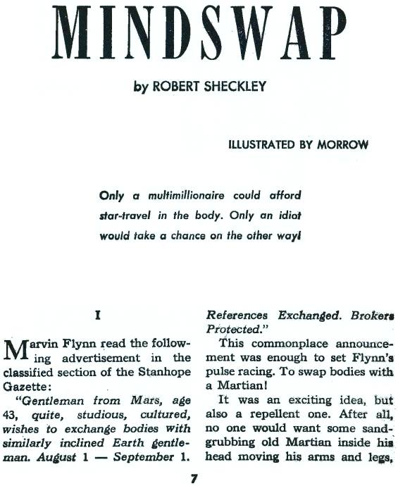 Galaxy June 1965 - MINDSWAP by Robert Sheckley - Page 7